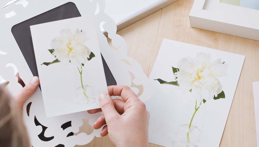 Rellena los tallos, hojas y enredaderas mientras se secan los pétalos de las flores.