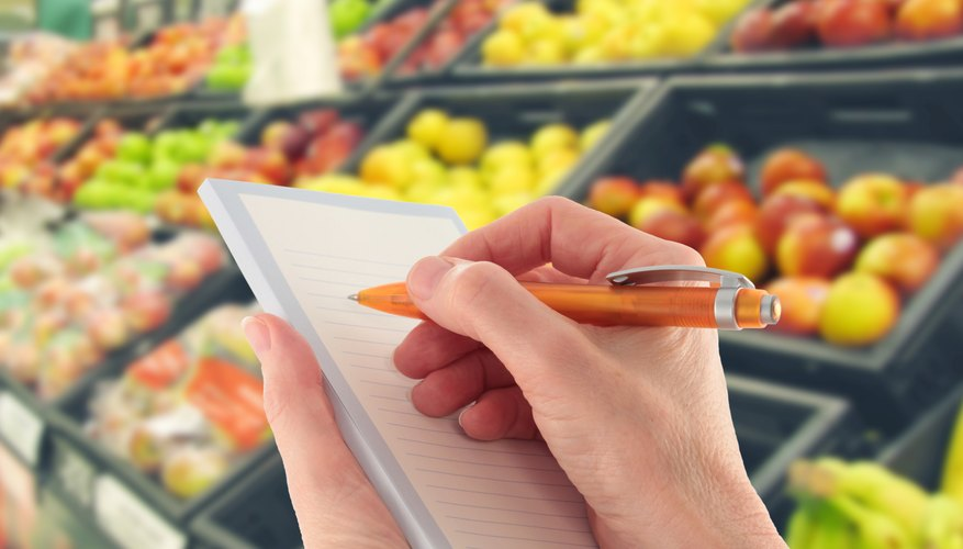 Create a list of foods you would like to vend.