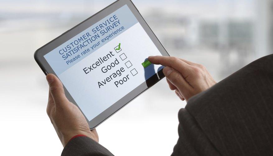 Online customer service satisfaction survey