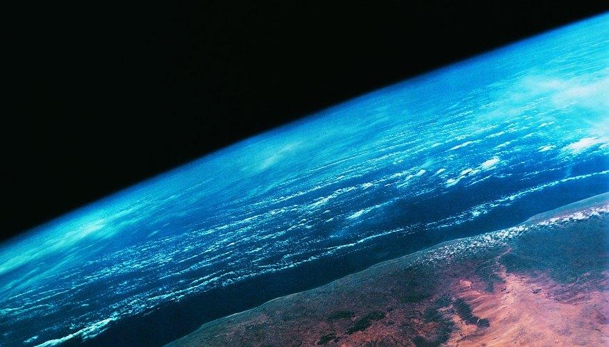 A satellite photo of a coastline on Earth.