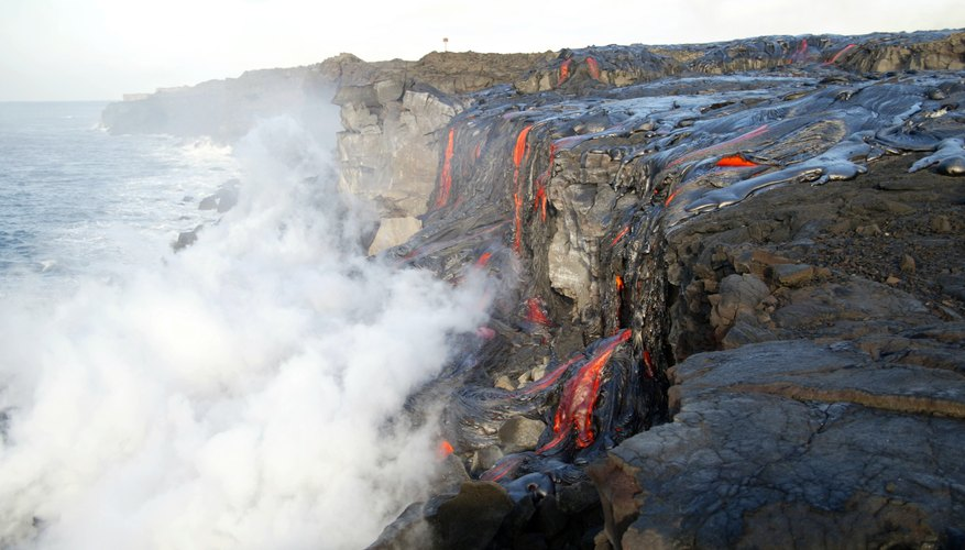 Lava flows from Kilauea in 2004