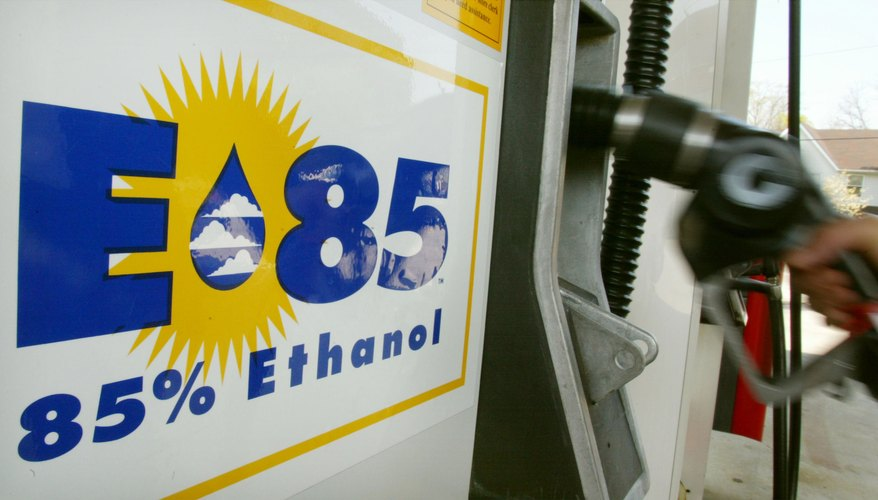 A gas pump serving corn derived E-85 Ethanol.