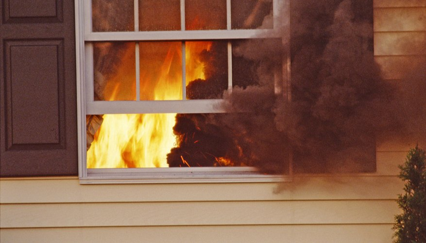 Fire retardants prevent polyethylene from burning.