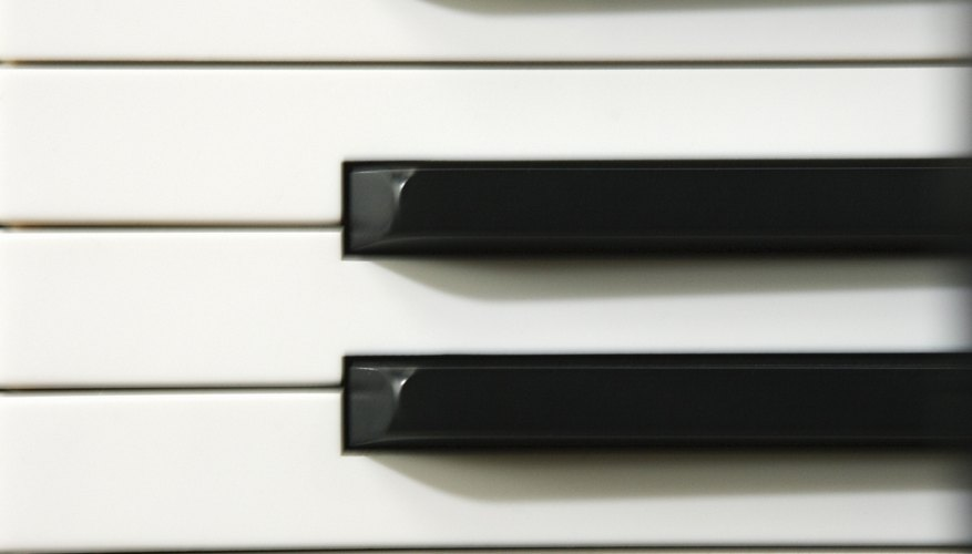 Pianos have black keys in groups of two and three.
