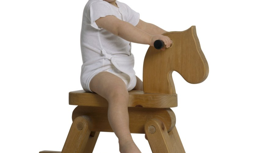 Toddlers develop their large muscles with physical activities.