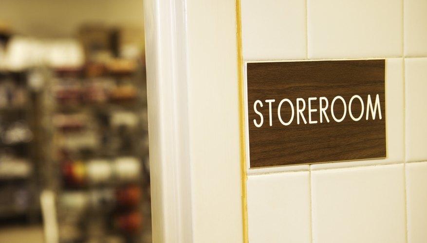 Storeroom sign