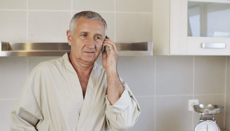 Man on phone with doctor