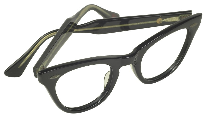 Vintage frames are often made of heavy horn or tortoise shell.