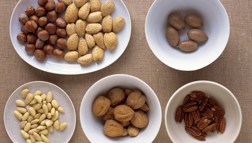 Nuts are high in iron.