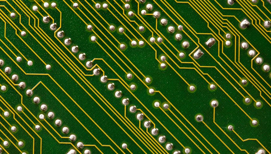 The gold from circuit boards and other electronic waste can be extracted and recycled.