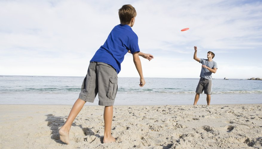 Organized games add more entertainment to a day at the beach.