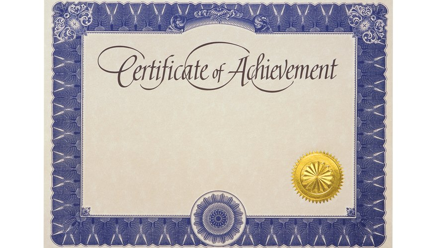 Can You Get A Job With A Certificate Of Achievement  Bizfluent