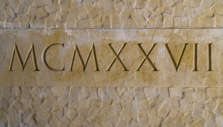 How To Read Roman Numerals Sciencing