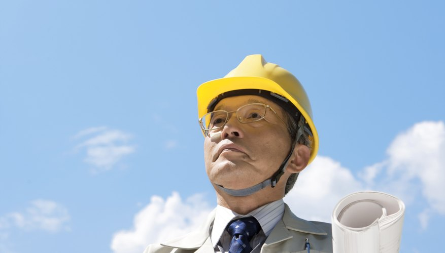 Middle-aged Man Wearing Hardhat