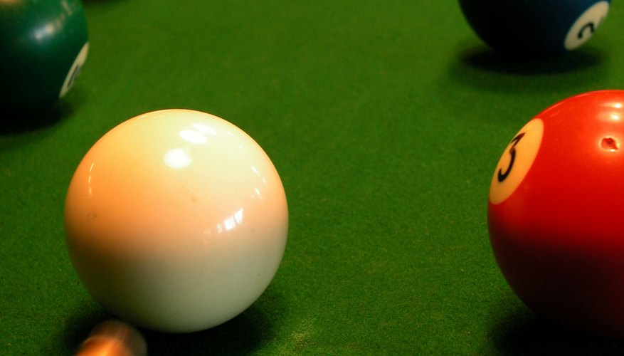 The same table and same size balls used in for English billiards are used to play snooker.
