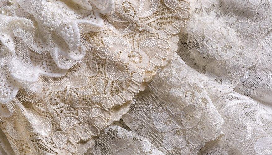 Vintage lace fabrics