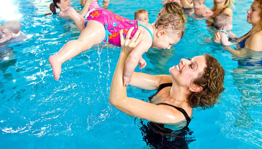 Introduce your baby to pool time fun.