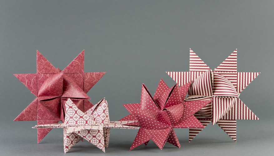 Make Moravian stars from wrapping paper for a festive feel.
