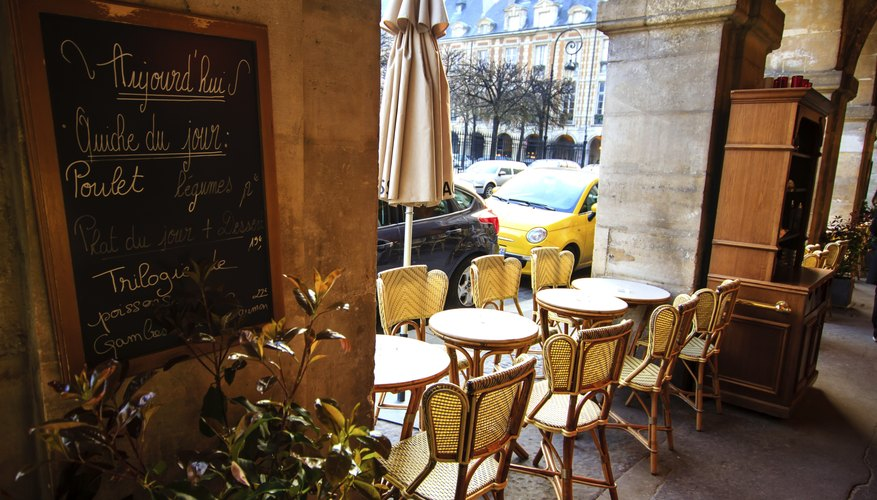 Café At Place De Vosges, Marais, Paris. Decorating A Small Restaurant Can  Be A Challenge ...