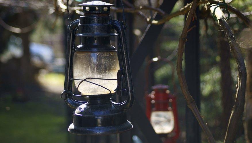 Hanging Kerosene lanterns.