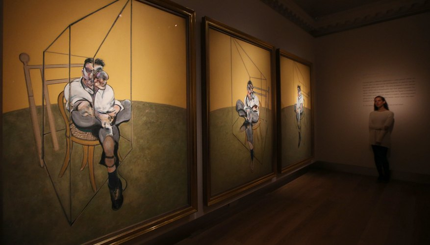 Woman walks toward Francis Bacon's