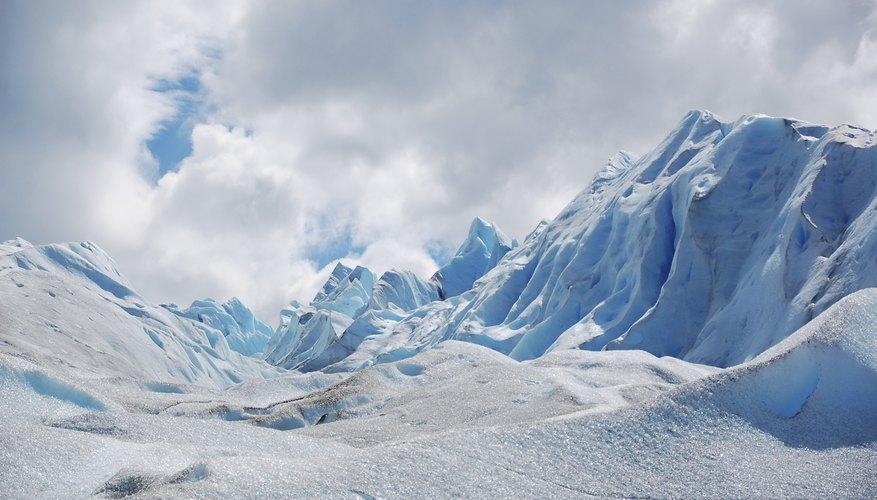 A large glacier.
