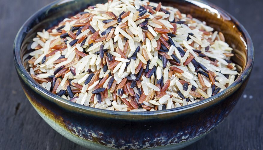 A bowl of wild rice.