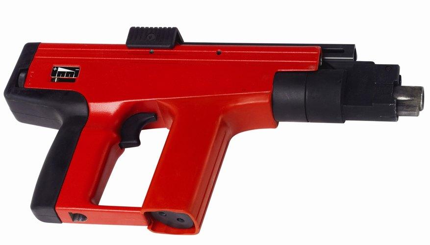 Elevated view of a nail gun