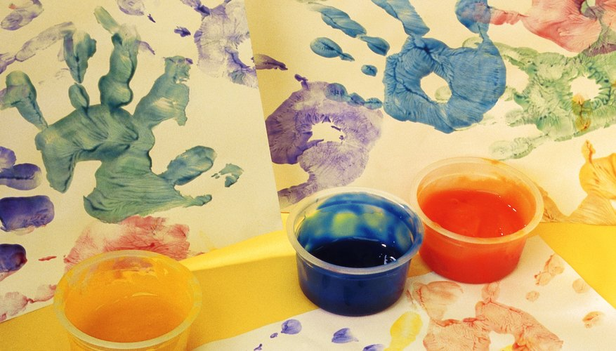 Hand print gifts are easy and fun for children to make.