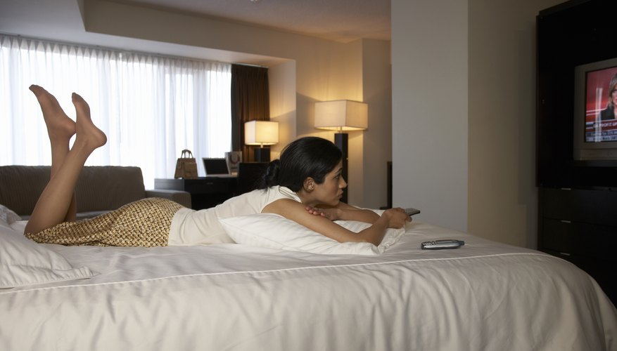 Debit cards can often be used to pay for a hotel room.