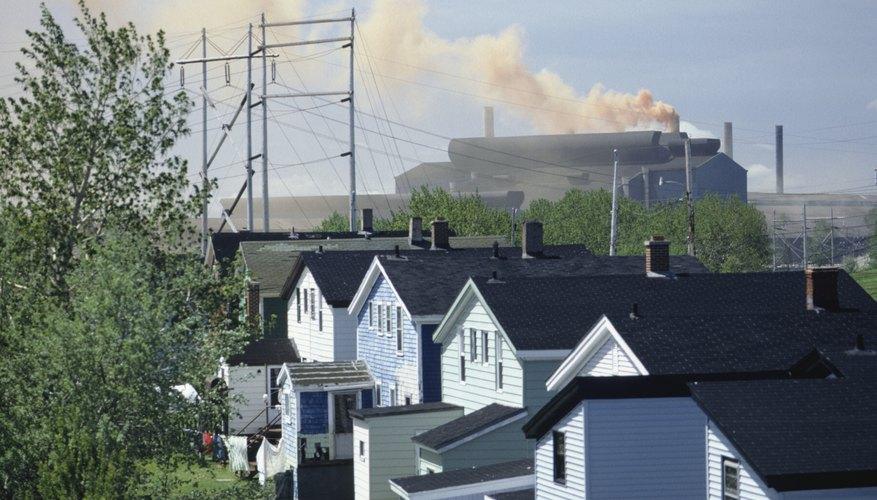 Steel mill near homes