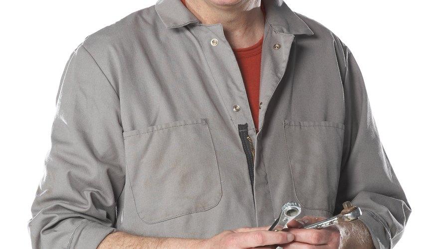 Mechanic or plumber posing
