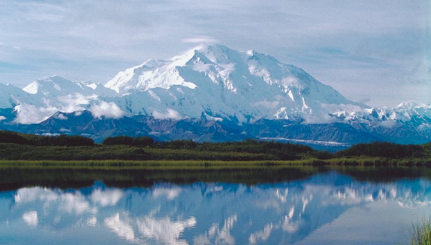Alaska is home to hundreds of glacial mountains.