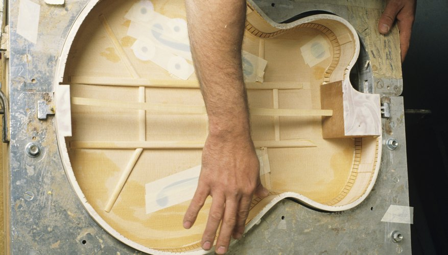 The labor costs associated with constructing a guitar would be part of the departmental overhead rate.