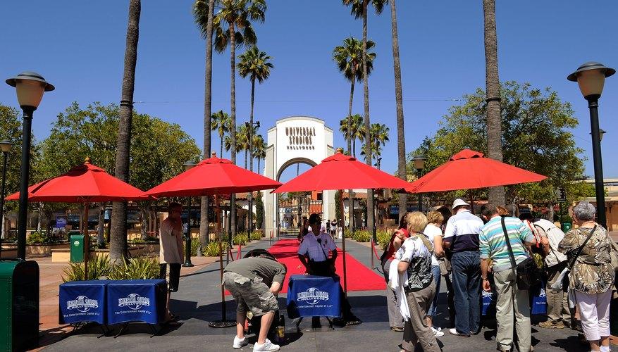 Entrada principal del parque temático Universal Studios Hollywood.