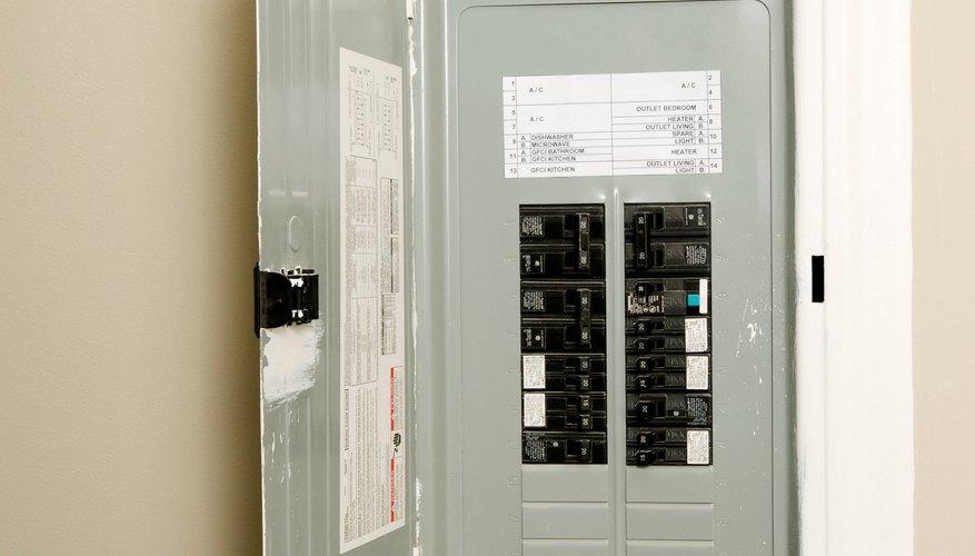 Circuit breaker in wall