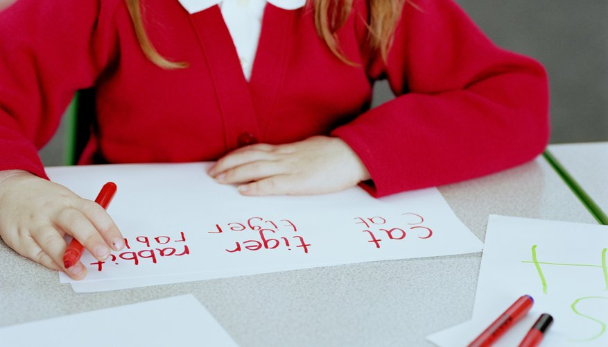 Children learn how to write their names in pre-K or kindergarten.