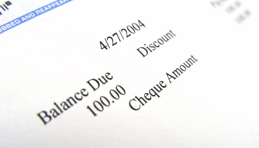 Cheque from IStock Closeup