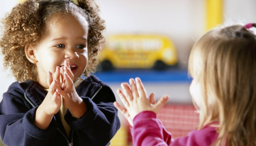 Children are attracted to hand-clapping songs and games during early childhood.