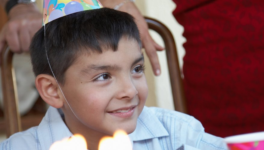 Blowing out candles is a big part of Mexican birthday parties.