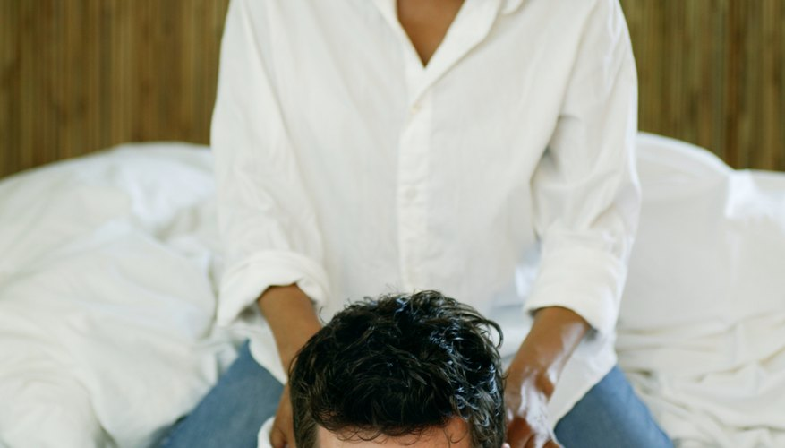 A romantic massage is a relaxing treat for your partner.