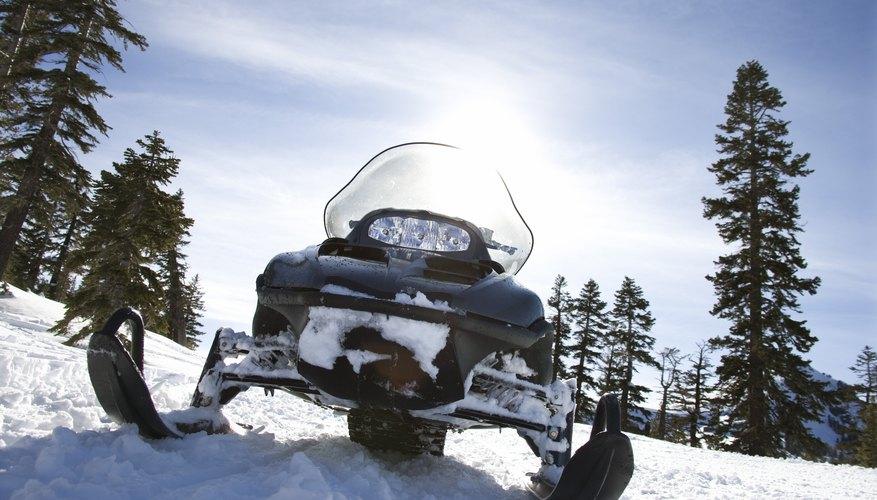 Los tanques de gasolina hechos de plástico también se pueden encontrar en motos de nieve.