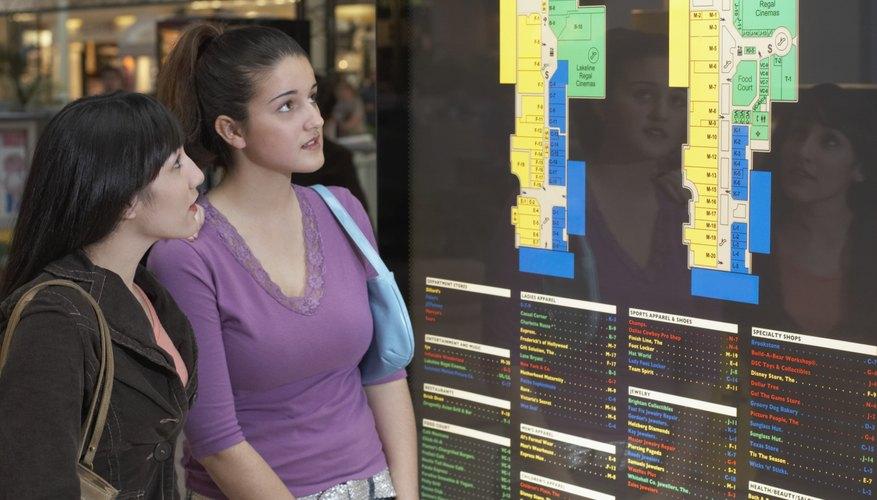 Los centros comerciales son un escenario común para una franquicia Cinnabon.
