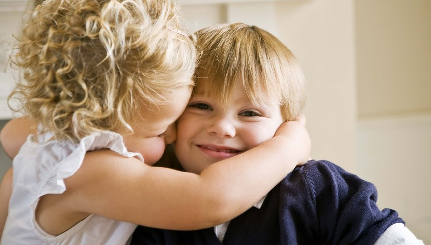 Show your child different ways to show others that she cares for them.