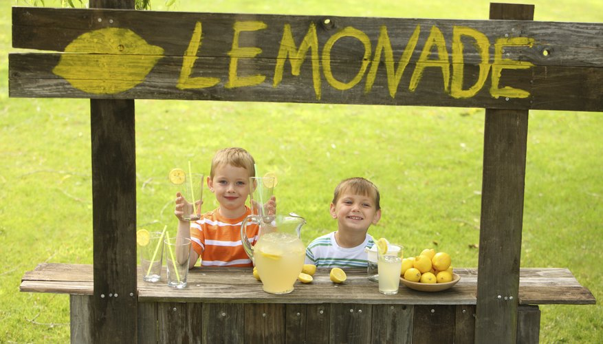Turning lemons into lemonade is a first business for many kids.