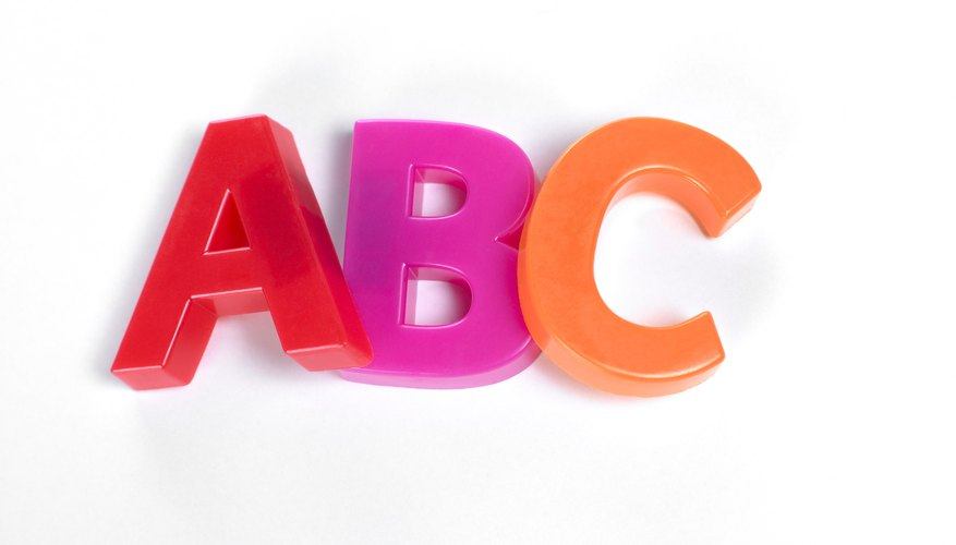 Teach kids the alphabet with freestanding letters.