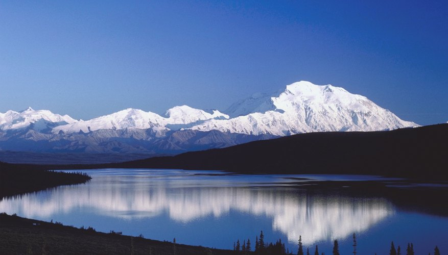 Mount McKinley in the Tundra of Alaska.