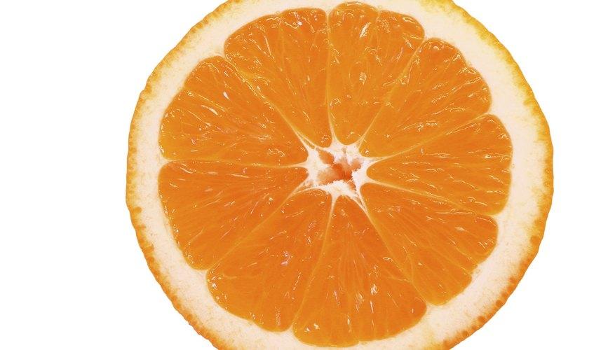 Oranges have acid