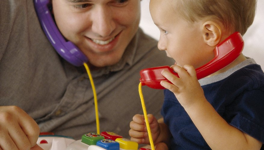 Playing and talking with your toddler can help his speech skills.