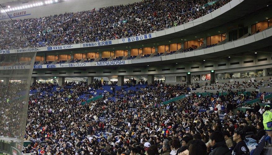 Baseball crowds inside the Tokyo Dome, Japan